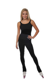 Savvy Skater Black Elastic Waist Figure Skating Pants