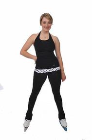 Savvy Skater Fold-over Polka Dot Figure Skating Pants
