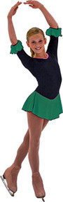 ChloeNoel DLS18 3/4Inch Sleeve Fleece with Sparkle Dress (TEAL)