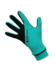 """Icedress - Two Color Thermal Figure Skating Gloves """"IceDress-Sport"""" (Emerald and Black)"""
