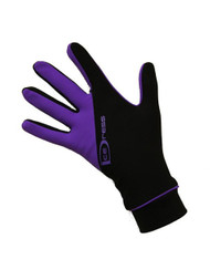 """Icedress - Two Color Thermal Figure Skating Gloves """"IceDress-Sport"""" (Black and Purple)"""