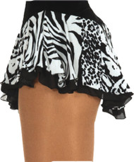 Jerry's 305 Double Georgette Print Skirts - White Animal/Black