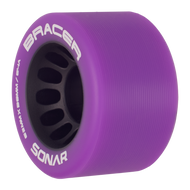 Riedell Skates Sonar Bracer 62mm Indoor Skate Wheels (Purple, Set of 4)