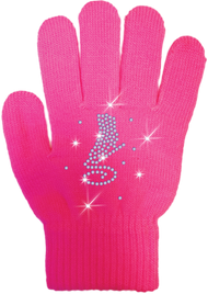 ChloeNoel Ice Skating Gloves - GV22-FS/Skate Crystals
