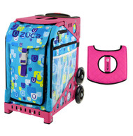Zuca Sport Bag - Be Zappy with Gift  Black/Pink Seat Cover (Pink Frame)