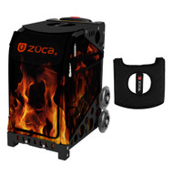 Zuca Sport Bag - Blaze with Gift  Black/Pink Seat Cover (Black Non-Flashing Wheels Frame)