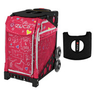 Zuca Sport Bag - Pink SK8 with Gift  Black/Pink Seat Cover (Black Non-Flashing Wheels Frame)
