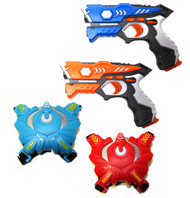Wonderstar Toys - Laser Tag Blasters - 2 Blasters and Two Vests Set