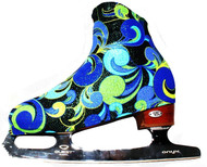 """Fantasy "" ice skating boot covers (Blue/Green)"