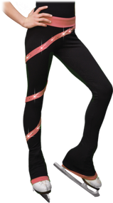 Chloe Noel PS106P Elite Polartec Spiral Fleece Figure Skating Pants with Crystals