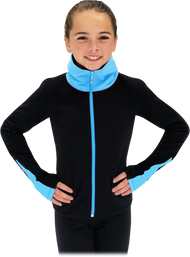 Chloe Noel JS883P Contract Elite Polartec Spiral Fleece Figure Skating Jacket 2nd view