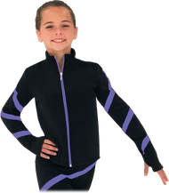 Chloe Noel JS106P Elite Polartec Spiral Fleece Figure Skating Jacket