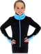 Chloe Noel JS883P Contract Elite Polartec Spiral Fleece Figure Skating Jacket with Crystals 3rd view