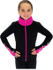 Chloe Noel JS883P Contract Elite Polartec Spiral Fleece Figure Skating Jacket with Crystals 4th view