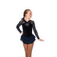 Jerry's Ice Skating Dress   - 12 Ooh La Lace  – Navy Blue