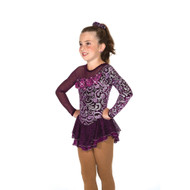 Jerry's Ice Skating Dress   - 40 Aubergine Elegance
