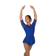 Jerry's Ice Skating Dress   - 279 Flora Lace  - Royal Blue