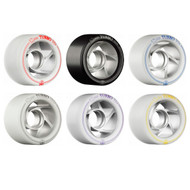 Rollerbones Turbo Speed/Derby Wheels with an Aluminum Hub (62mm, Set of 8)
