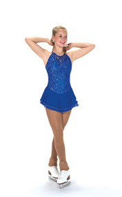 Jerry's Ice Skating  Dress - 212 Lacy Bows Dress – Royal Blue