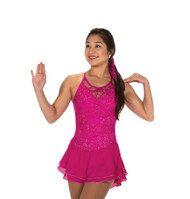 Jerry's Ice Skating  Dress - 212 Lacy Bows Dress - Fuchsia