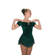 Jerry's Ice Skating  Dress - 213 Gemology Dress - Emerald Green