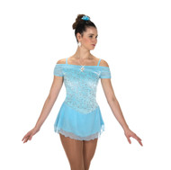Jerry's Ice Skating  Dress - 216 Shirred Shoulders Dress - Blue