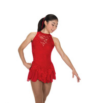 Jerry's Ice Skating  Dress - 219 Champagne Sequins Dress - Red