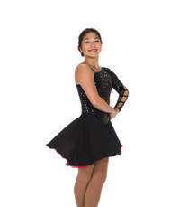 Jerry's Ice Skating  Dress - 222 Hidden Talents Dress - Black/Red