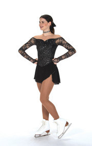 Jerry's Ice Skating  Dress - 246 Luxe Lace Dress - Jet Black