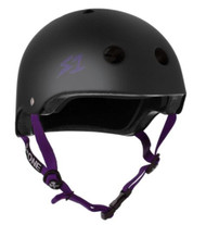 S1 Lifer Helmet - Black Matte w/ Purple Straps