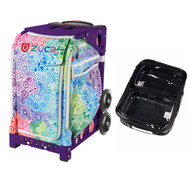 Zuca Explosion bag + FREE Zuca Utility Pouch Combo Set - One Large and Two Mini Utility Pouches (Purple Frame)