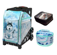 Zuca Sport Bag -  Husky with FREE Lunchbox and Small Utility Pouch (Black Frame)