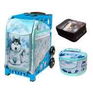 Zuca Sport Bag -  Husky with FREE Lunchbox and Small Utility Pouch (Blue Frame)
