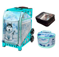Zuca Sport Bag -  Husky with FREE Lunchbox and Small Utility Pouch (Turquoise Frame)