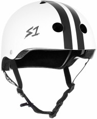 S1 Lifer Helmet - White Gloss w/ Black Stripes