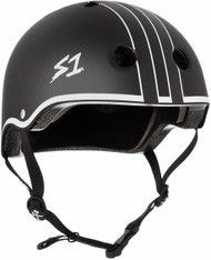 S1 Lifer Helmet - Black Matte w/ White Outline