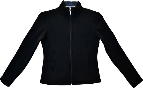 ChloeNoel - J42 X Solid Polar Fleece Fitted Figure Skating Jacket - I Love Skating (Silver) (Clearance) 2nd view