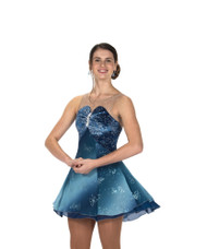 Jerry's Ice Skating Dress - 243 Baronial Blue , Youth 12-14 CLEARANCE (25% OFF)
