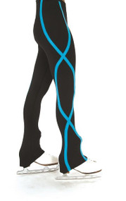 erry's S140 Ribbon Figure Skating Pants - Blue, Adult Small CLEARANCE (25% OFF)