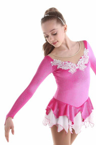Elite Xpression - Fairy Ice Princess Dress - Fuchsia