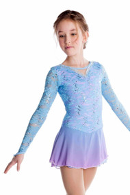 Elite Xpression - Elegant Lace Dress - Light Blue-Lilac