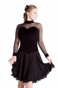 Elite Xpression - Black Crinkle Dance Dress