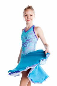 Elite Xpression - Basic Lace Dance Dress -Turquoise-Purple