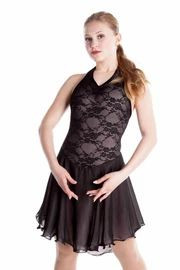 Elite Xpression - Basic Lace Dance Dress - Black