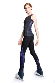 Elite Xpression - Training Tank Top Wide Backing - Purple Sparkle