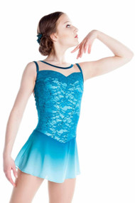 Elite Xpression - Turquoise Faded Lace Dress