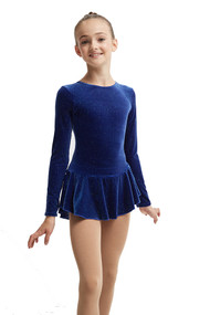 Mondor Born to Skate Glitter Figure Skating  Dress 2711 -  Royal Glitter