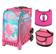 Zuca Sport Bag -  Cotton Candy with Hot Pink Lunchbox and Hot Pink Seat Cover (Pink Frame)