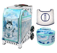 Zuca Sport Bag - Husky with Husky Lunchbox and White Seat Cover (White Frame)