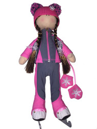 Tilda Doll by IceDress- Figure Skater - Bracket Outfit  (Pink)